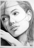 Angelina Jolie - pencil by Sellren