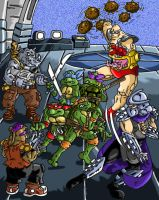 TMNT in trouble by UBob