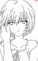 Rei Ayanami LineArt by: Aria by AriaOmicronCx