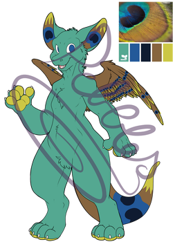 Dutch Angel Dragon Adoptable [OPEN : 50 points] by MagicPebbles