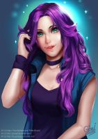 Abigail from Stardew Valley by GraceTH