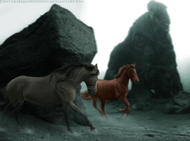 Moriarty and Rhaegar [COMM] by CoutureEquineDesigns
