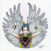 Grey Parrot by bomgirl