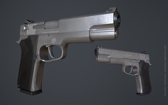Smith s Wesson Low Poly by nulljumper