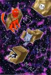 Space cats by FreezzeGravity