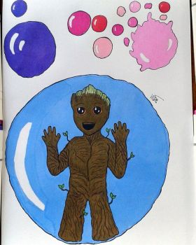 Baby Groot by she-wolf99