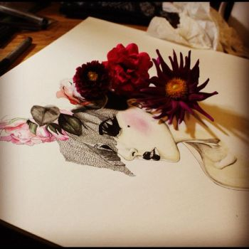 I Am Still Painting Flowers for You by TweetyHanh