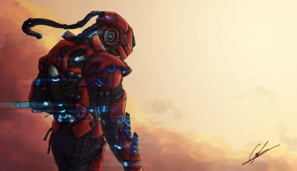 Combat Suit: Harag by Griphinator