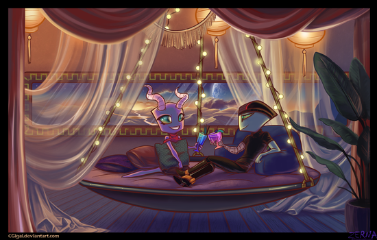 Collab--Evening Conversation by CGIgal