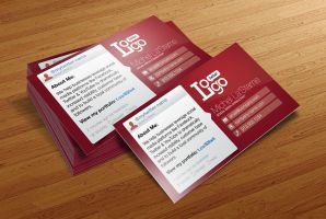 FREE Social Media Business Card Template by CursiveQ-Designs