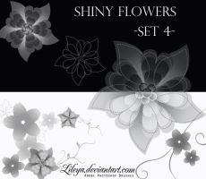 Shiny Flowers set 4 by Lileya