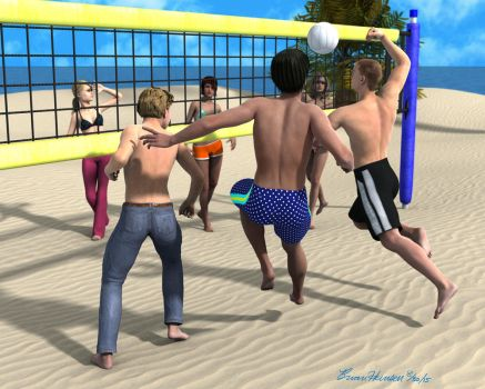 Beach Volleyball 8-30-15 by stopsigndrawer81