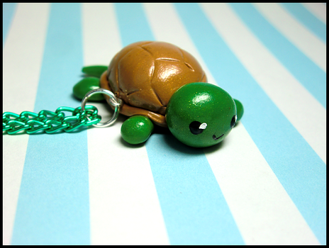 Happy Turtle Necklace by GrandmaThunderpants