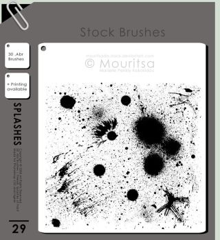Brush Pack - Splashes Of Paint by MouritsaDA-Stock
