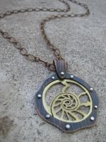 Nautilus Riveted Necklace by AbandonedMemory