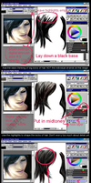 How to colour realistic hair by Firnheledien