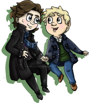 John and Sherlock by Hazeloop