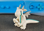 White Wii Gamer Dragon by HowManyDragons