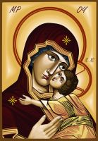 Holy Mother icon by urielz29
