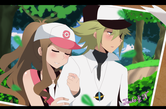 Pokemon +N and Touko+ by aidmoon