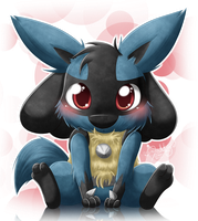 Lucario - Am I cute enough now? by Isi-Daddy