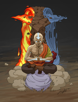 Master of All Four Elements by friedChicken365