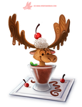 Daily Paint #1168. Chocolate Mousse by Cryptid-Creations