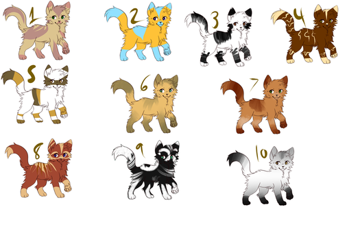 {OPEN} Cheap Set Price Cat Adopt Batch #3 by cuteanimaladoptable
