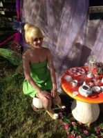 a fairy tea party : tinkerbell cosplay by Iris-Iridescence