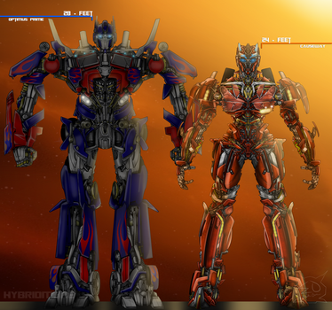 Causeway's Height Compared to Optimus Prime by Lady-ElitaOne-Arts