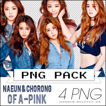 Renders' pack with Chorong and Naeun of A-PINK by yasonmink