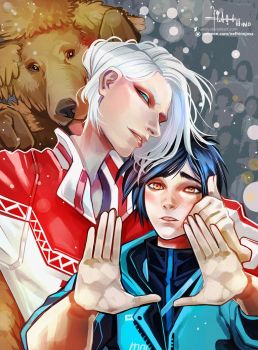 Yuri On Ice: Yuuri and Viktor by Hassly