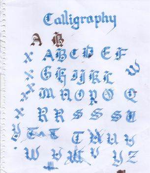 Old English Calligraphy by UrbanPython