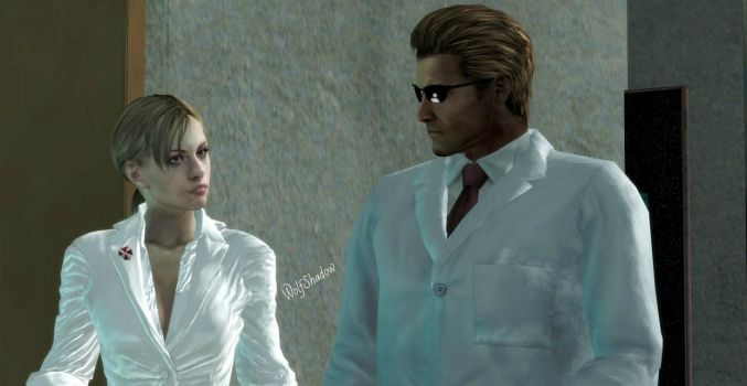 Jill and Wesker by WolfShadow14081990