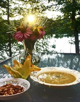 Summer Delights: Butternut Squash and Sausage Soup by vinsulalee