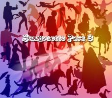 Sillhouettes Brush Pack 3 by memories-stock