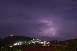 Playa Hermosa Lightning Storm by RozenGT