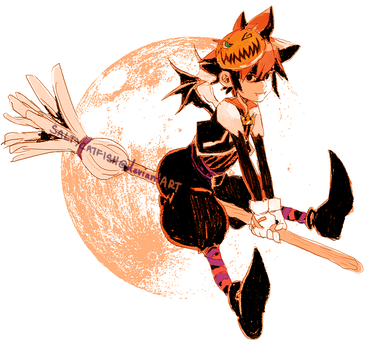 KH: Halloween Town Sora by saltycatfish
