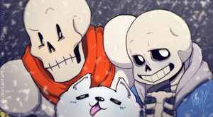 Wacky Skeletons and Annoying Dog [Undertale] by ElleAP