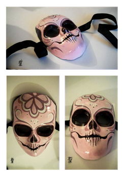 Day of the dead mask by deadwrong777