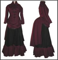Uniform Bustle Gown by Stahlrose