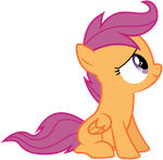 Vector Sitting Scootaloo by Kyss.S by KyssS90