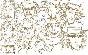 Tarrant - expression sketches by JesusIsMyHomie