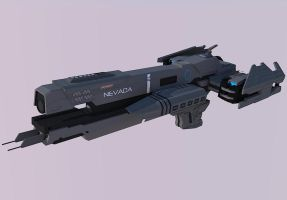 Halo Frigate UNSC Nevada (Test Render) by calamitySi