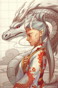 Dragon by Qinni
