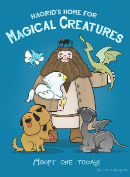 Hagrid's Home for Magical Creatures by annamariajung