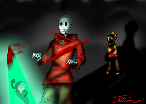 Fall of the Skeleton (Glitchswap) by TwilaHolmes