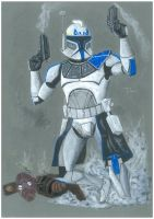 Captain Rex leads the way by TolZsolt
