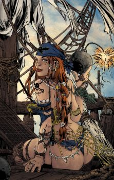 Pirate Babe   Ebas   Egli  Inks By Surftiki-d6 by AimeeSH