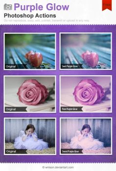 Purple Glow Photoshop Actions by Wnison